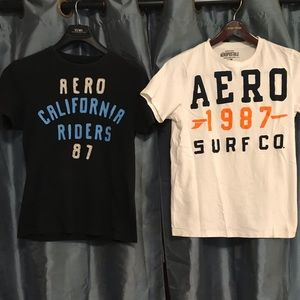 TWO Aēropostale Size large  size M  Shirts.